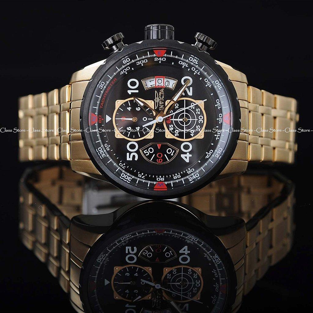 b23130b7ecc ... Relógio INVICTA 17206 Aviator 48mm Banhado a Ouro 18k - Imagem 3 ...