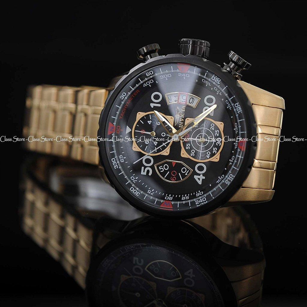 d4161f45495 ... Relógio INVICTA 17206 Aviator 48mm Banhado a Ouro 18k - Imagem 4 ...