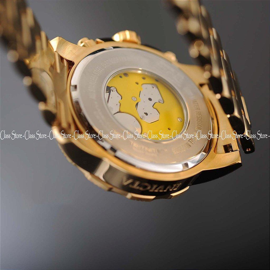 2c17d21b82c ... Relógio INVICTA 21555 Pro Diver 50mm Banhado a Ouro 18k cronógrafo Azul  Suíço - Imagem 6