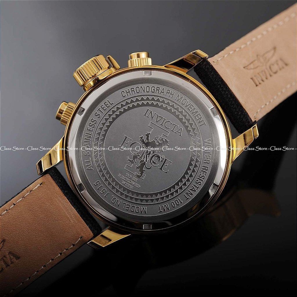 cfc69bb953d ... Relógio Invicta I-Force 1515 Banhado a Ouro 18k Cronógrafo - Imagem 9  ...
