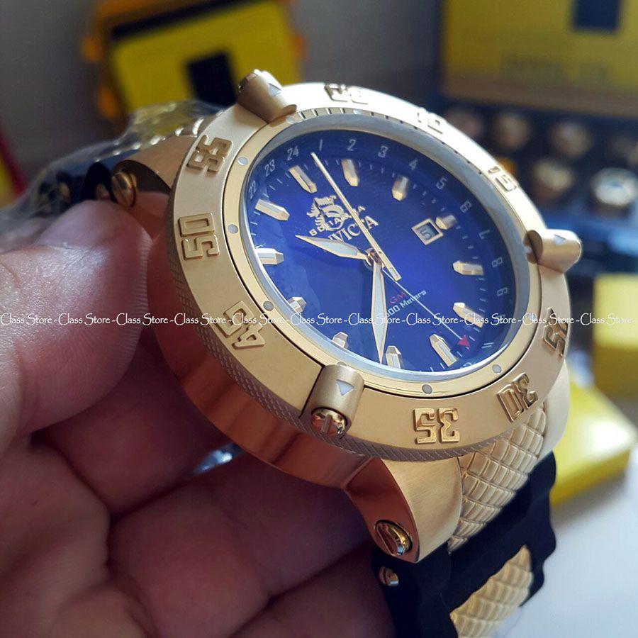 7d4e51140eb ... Relógio Invicta Subaqua Noma 3 1150 Banhado a Ouro 18k Original GMT  Suíço Azul - Imagem ...