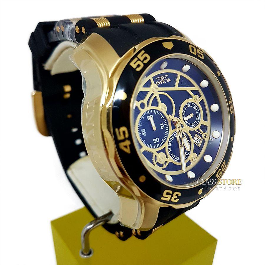 c8eb1948b93 ... Relógio Invicta 25710 Pro Diver Banho a Ouro 18k Cronógrafo Mostrador  Preto - Imagem 4 ...