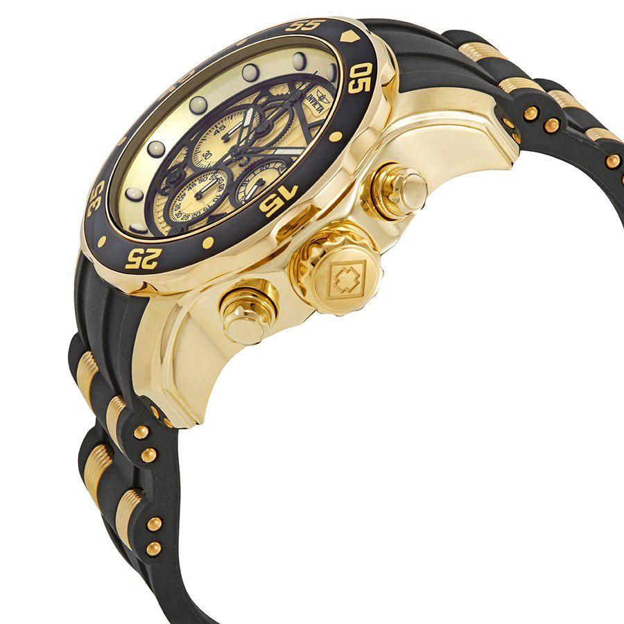 6c3810a8bb6 ... Relógio Invicta 25709 Pro Diver Banho a Ouro 18k Cronógrafo Mostrador  Amarelo - Imagem 2 ...