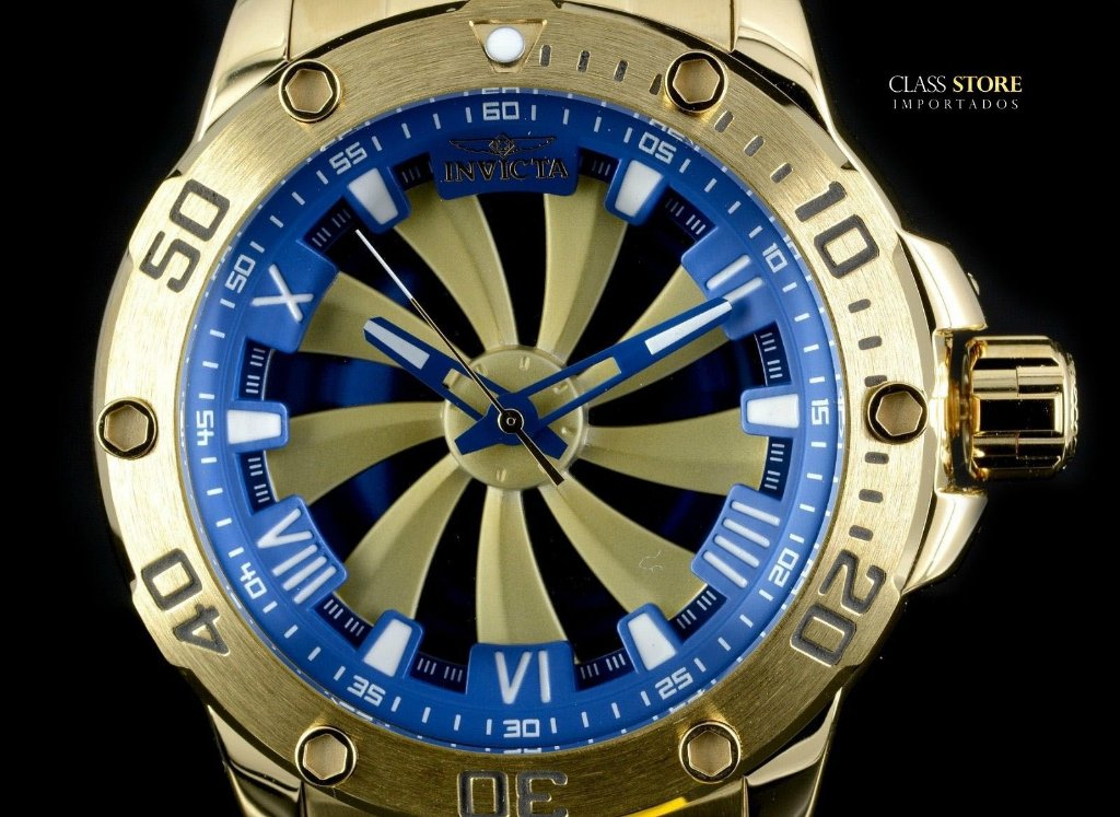 b0337d7210d ... Relógio Invicta 25851 Speedway 49mm Automático Banhado a Ouro 18k  Mostrador Rotativo - Imagem 2 ...
