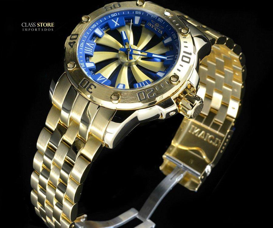 d680da3dc90 ... Relógio Invicta 25851 Speedway 49mm Automático Banhado a Ouro 18k  Mostrador Rotativo - Imagem 6 ...