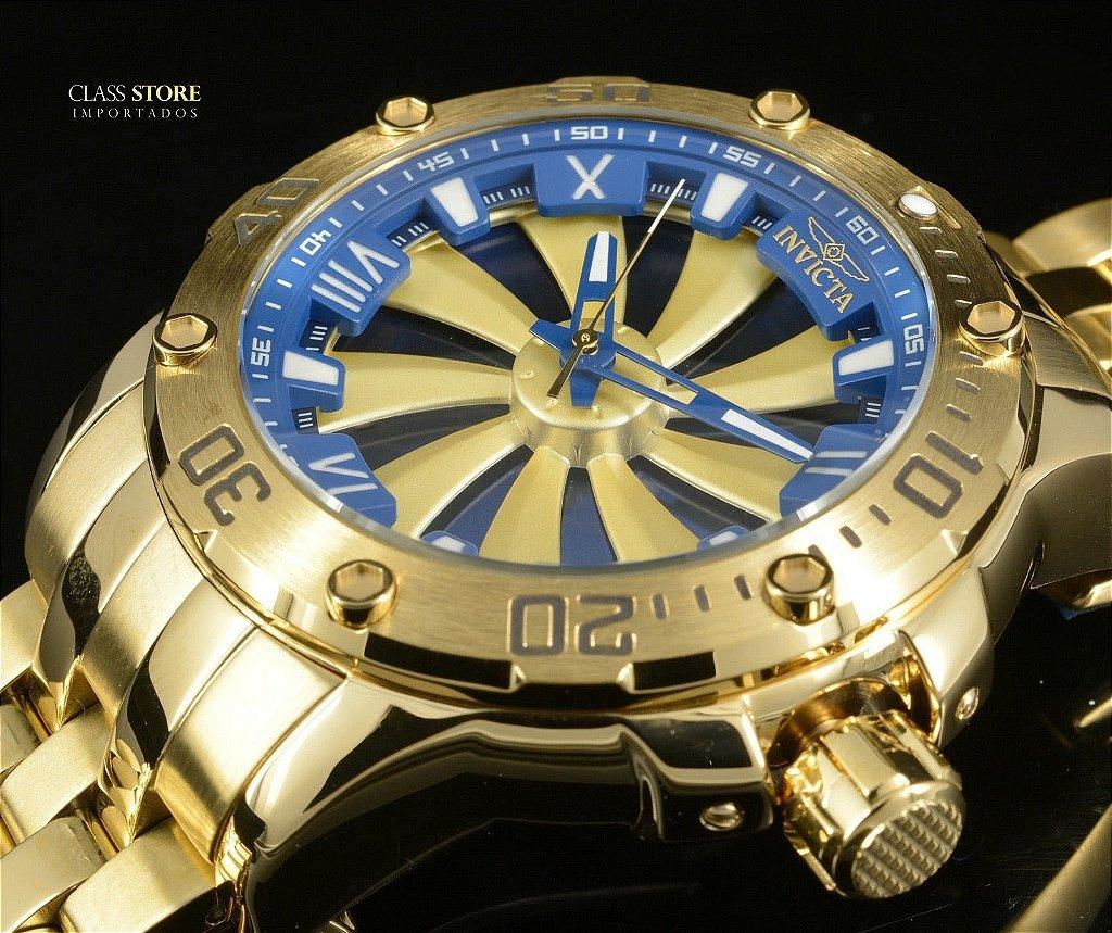 6ec5772d979 ... Relógio Invicta 25851 Speedway 49mm Automático Banhado a Ouro 18k  Mostrador Rotativo - Imagem 4 ...