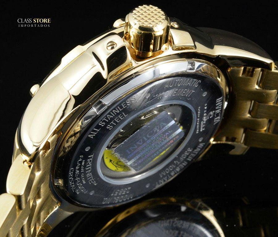 497f56ceefe ... Relógio Invicta 25851 Speedway 49mm Automático Banhado a Ouro 18k  Mostrador Rotativo - Imagem 7