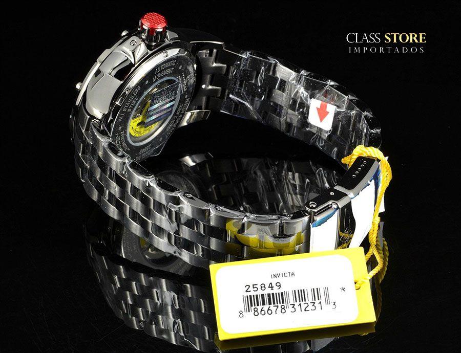 90b41d05acc ... Relógio Invicta 25849 Speedway 49mm Automático Preto Metálico Mostrador  Vermelho Turbina - Imagem 6