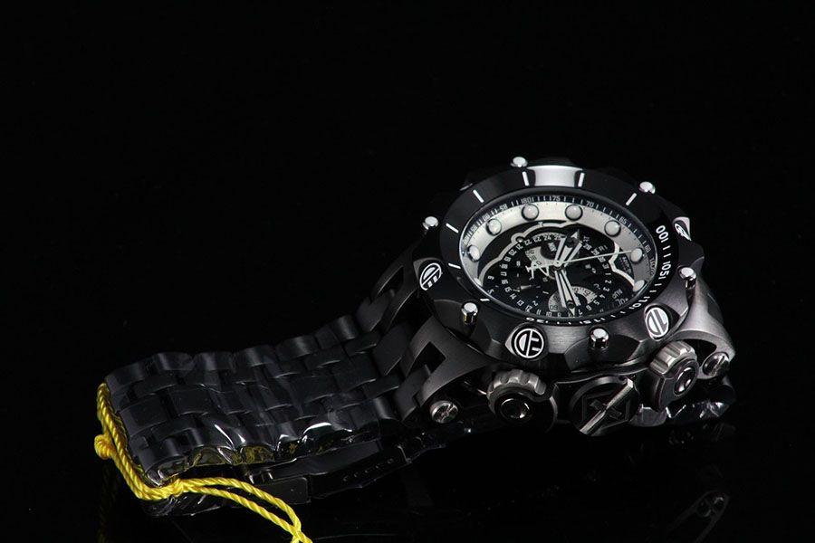 dab4a75ab1e ... Relógio Invicta Reserve Venom 20421 Hybrid Preto Cronógrafo Calendário  Triplo Suíço - Imagem 4 ...