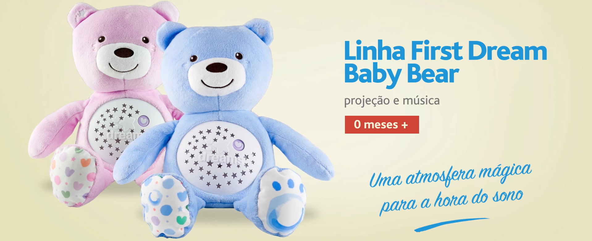 projetor infantil baby bear first dream chicco