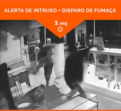 ALERTA DE INTRUSO + DISPARO DE FUMAÇA