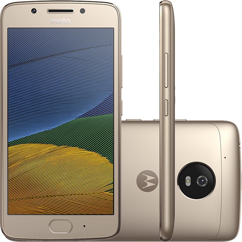 Smartphone Moto G 5 Dual Chip Android 7.0 Tela 5' 32GB 4G Câmera 13MP - Ouro