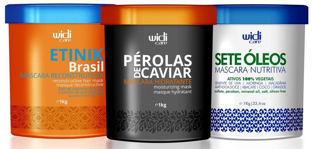 WIDI - CRONOGRAMA CAPILAR - PEROLAS DE CAVIAR 1kg / SETE OLEOS 1kg / ETNIK 1kg