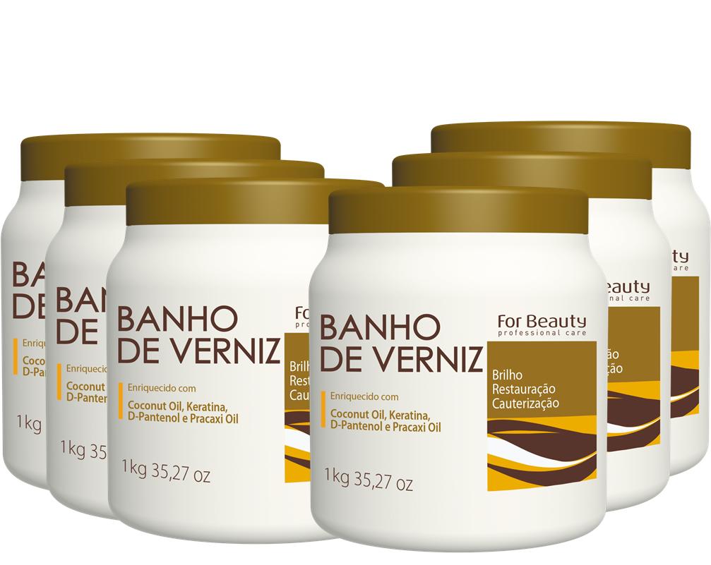 FOR BEAUTY - BANHO DE VERNIZ - 1kg - 6 UNIDADES