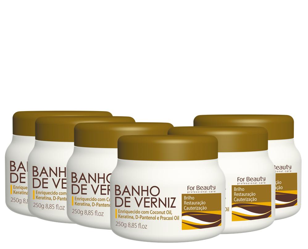 FOR BEAUTY - BANHO DE VERNIZ - 250g - 6 UNIDADES