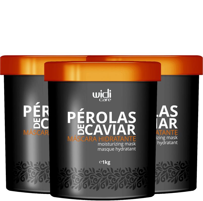 WIDI - MÁSCARA HIDRATANTE PÉROLAS DE CAVIAR - 1Kg - 3 UNIDADES