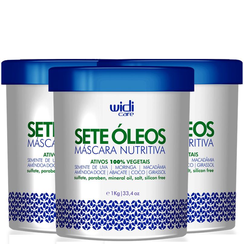 WIDI - MÁSCARA NUTRITIVA SETE ÓLEOS - 1Kg  - 3 UNIDADES