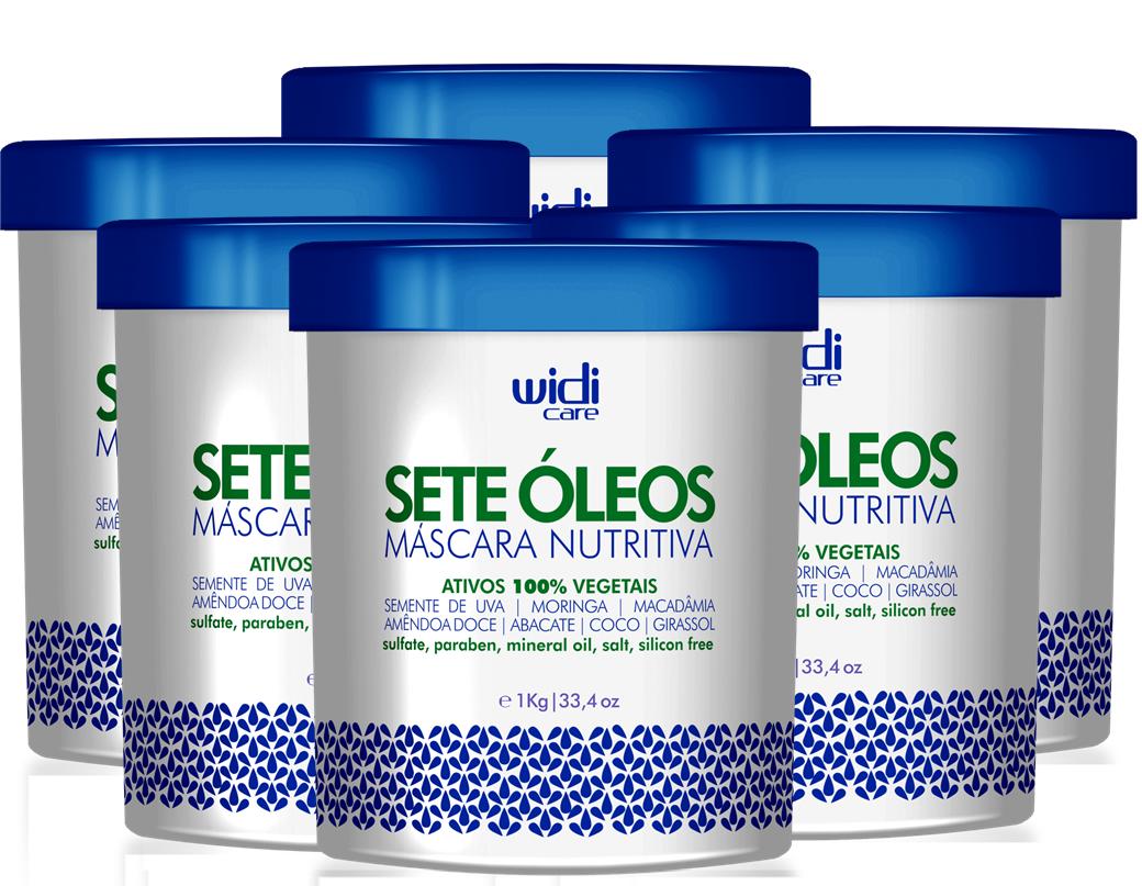 WIDI - MÁSCARA NUTRITIVA SETE ÓLEOS - 1Kg  - 6 UNIDADES