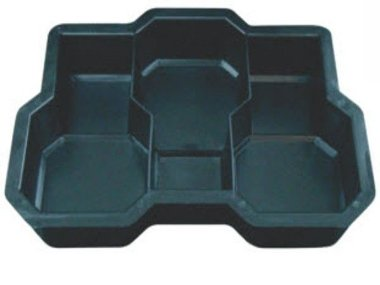 Forma Plástica p / Piso Bloquete Raquetinha Tripla 19 x 11,5 x 6 - FP093