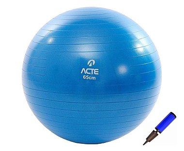 Bola De Pilates com Bomba Yoga Ginástica Fitness 65cm T9 - Acte Sports