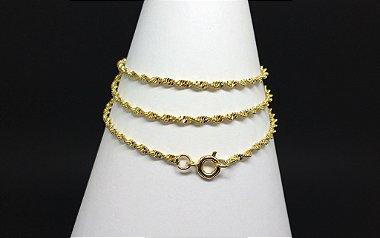 Colar Corrente Serpentina Feminina Folheada Dourada Banhada Ouro 18k - C203
