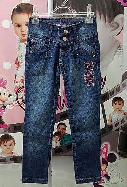 Calça Jeans Infantil - tam 4 e 8 Dark Blue