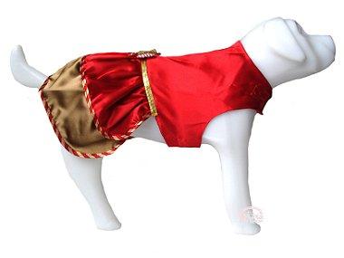 Vestido Pet Cetim Vermelho para Cadelinhas G