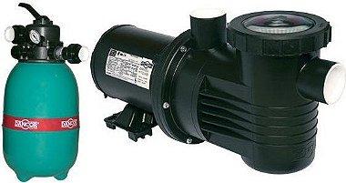 Filtro de piscina Dancor DFR-12 c/ bomba 1/4cv 127/220/254V M