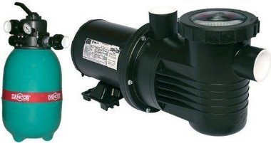 Filtro para piscina Dancor DFR-12-4 c/ bomba 1/3CV 127/220/254V M