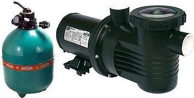 Filtro de piscina Dancor DFR-19-10 c/ bomba de 0,75CV 220/380V T