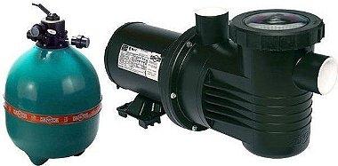 Filtro de piscina Dancor DFR-22-11 c/ bomba de 1,0CV 220/380V Trifásica