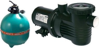 Filtro de piscina Dancor DFR-24-13 c/ bomba de 1,5cv 220/380V T