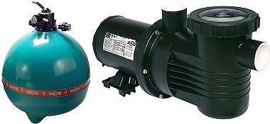Filtro de piscina Dancor DFR-30-18 c/ bomba de 2,0cv 220/380V T