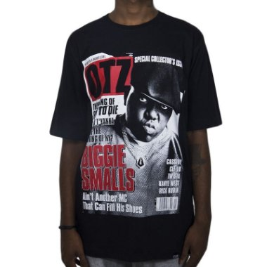 Camiseta Outlawz Magazine Biggie Smalls - Preta L / G