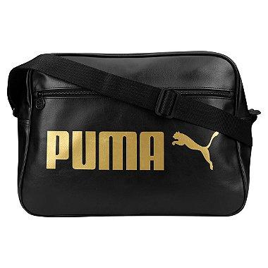Bolsa Puma Campus Repórte - Preta