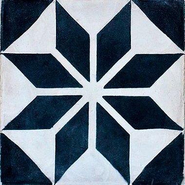 Azulejo Adesivo Padrão Português Geométrico Azul