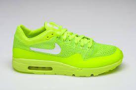 Tenis Nike Air Max 1 Ultra Flyknit Verde Limão