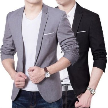 Blazer Slim Fit One Button Casual