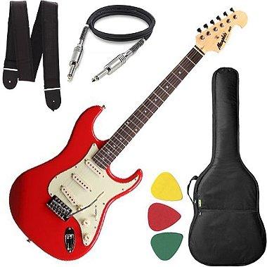 Guitarra Mod Fender Tagima Memphis Mg32 Cor Vermelho Vintage