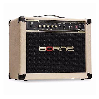 Amplificador Cubo Borne Cb60 Impact Bass 20w Creme