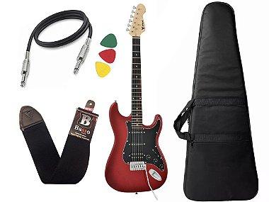Kit Guitarra Phx Strato Power St H Sth Vermelho Bag