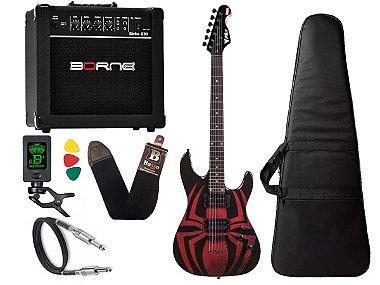 Kit Guitarra Marvel spider man aranha phx Gms1 cubo Borne