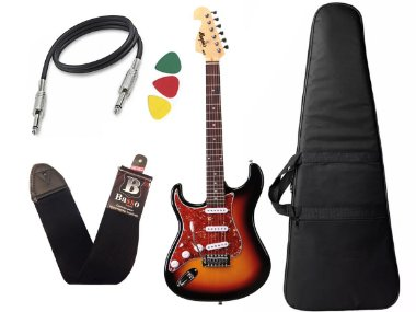 Guitarra Tagima Memphis Mg32 Canhoto Sunburst Capa Cabo Alça