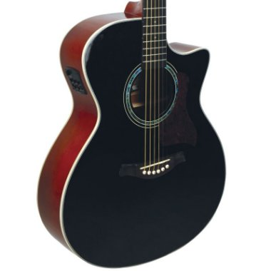 Violão Elétrico Aço Tagima Woodstock Tw29 Jumbo Preto