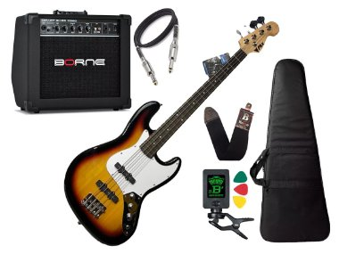 Baixo Phx Jb 4 Jazz Bass 4 Cordas Sunburst Caixa Borne
