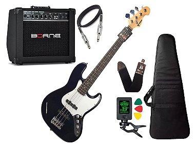 Baixo 4 Cordas Phx Jb Jazz Bass Azul Escuro Marinho Borne