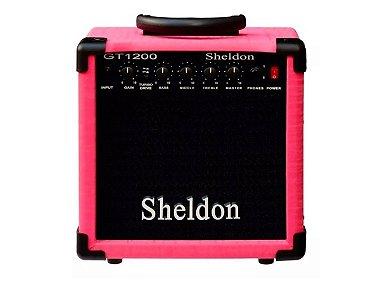 Amplificador Caixa Cubo Guitarra Sheldon Gt1200 15w Rosa