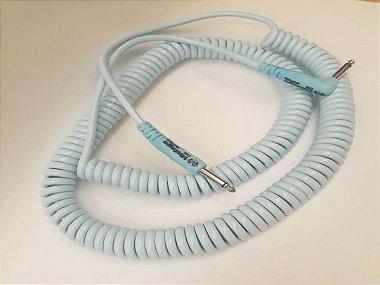 Cabo espiral p10 90 azul bebe claro 9.15m antiruido maccabos