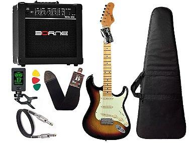 Kit guitarra tagima t635 Sunburst Claro amplificador borne