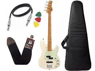Kit Baixo Tagima Tw65 Woodstock precision Branco Capa